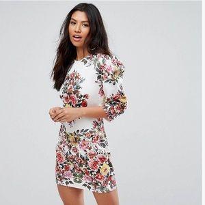 Asos Club London Floral Print Mini Dress